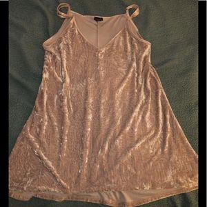 Rue21 Velvet Pink Dress